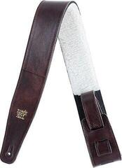 Ernie Ball 4138 2.5'' Italian Leather Strap with Fur Padding Chestnut
