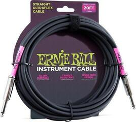 Ernie Ball 6046 20' Straight/Straight Instrument Cable Black