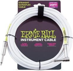 Ernie Ball Instrument Cable White/Straight - Angled