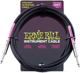 Ernie Ball Instrument Cable Черeн/Директен - Директен