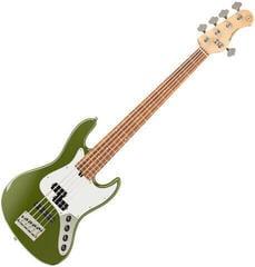 Sadowsky MetroExpress P/J Bass Morado 5 String - Solid Sage Green Metallic