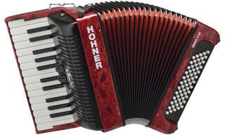 Hohner Bravo II 60 Red Piano accordion