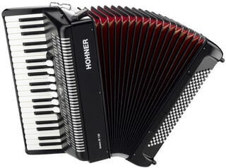 Hohner Bravo III 120 Black Piano accordion