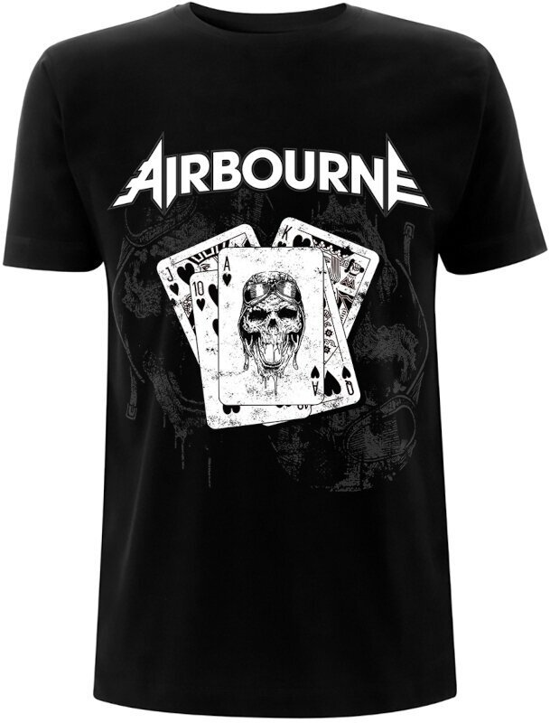 Airbourne Playing Cards Black XL Music T-Shirt