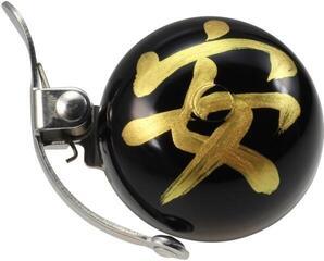Crane Bell Handpainted Mini Suzu Bell w/ Steel Band Mount Omamori Safe