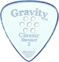Gravity Picks GCLS2MM Classic Standard 2.0mm Multi-Hole Grip Blue