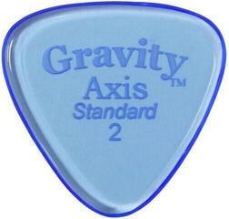 Gravity Picks GAXS2P Axis Standard 2.0mm Polished Blue