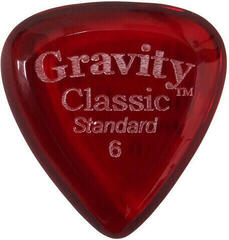 Gravity Picks GCLS6P Classic Standard 6.0mm Polished Red