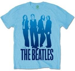The Beatles Mens Iconic Image on Logo T Shirt Light Blue