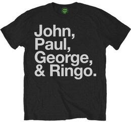 The Beatles Mens John Paul George & Ringo Black T Shirt Black