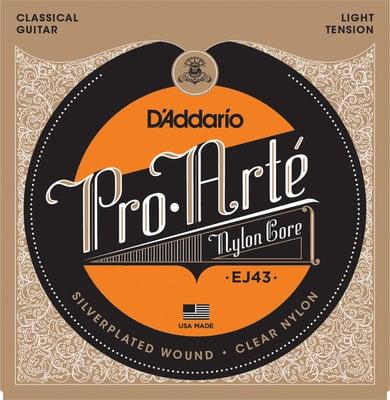 D'Addario EJ43 ProArte Laser Selected Nylon Trebles Light