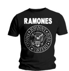 Ramones Seal Mens Black T Shirt: L
