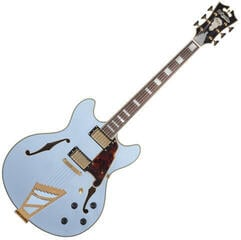 D'Angelico Deluxe DC Stairstep Matte Powder Blue