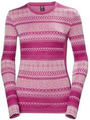 Helly Hansen W HH Merino Mid Graphic LS Dragon Fruit