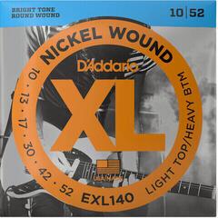 D'Addario EXL140-3D Nickel Wound Light Top/Heavy Bottom 10-52 3 sets