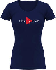 Muziker Time To Play T-Shirt Women Navy/Red