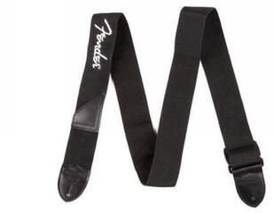 Fender Black Polyester White Logo Strap