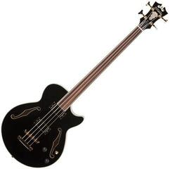 D'Angelico Excel Fretless Bass Black