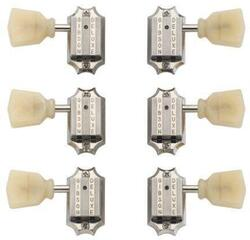 Gibson PMMH-050 Vintage Nickel Machine Heads Yellow Buttons