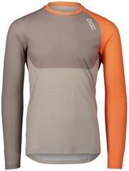 POC MTB Pure LS Jersey Zink Orange/Moonstone Grey/LT Sandstone Beige M