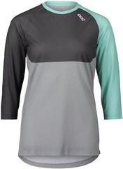 POC Women's Pure 3/4 Jersey LT Fluorite Green/Sylvanite Grey/Alloy Grey M