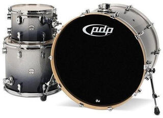 PDP by DW CM3 Concept Maple Shellset Silver to Black Sparkle 24x12x16