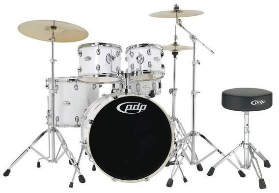 PDP by DW MAINstage Gloss White 20x10x12x14-14