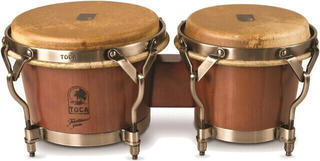 Toca Percussion 3900D Bongo Traditional Series Dark Walnut / Nickel