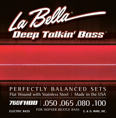 LaBella 760FHBB Beatle Bass Stainless Steel Flat Wound 50-100
