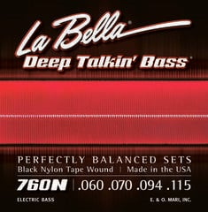 LaBella 760N Deep Talkin' Bass Black Nylon Tape Wound 60-115