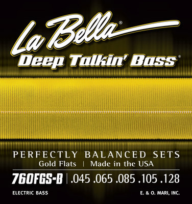 LaBella 760FGS-B Deep Talkin' Bass Gold Flats 5 Standard 45-128