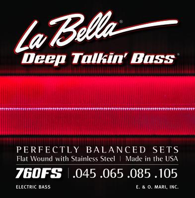 LaBella 760FS Deep Talkin' Bass Flats – Standard 45-105