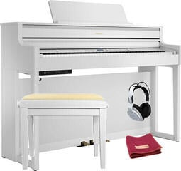 Roland HP 704 Polished White Piano numérique