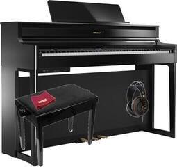 Roland HP 704 Polished Ebony SET