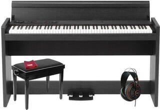 Korg LP-380 Rosewood Grain Black Digital Piano
