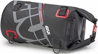 Givi EA114GR Waterproof Cylinder Seat Bag 30L Grey Red