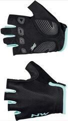 Northwave Womens Active Gloves Short Fingers Black/Light Blue XL