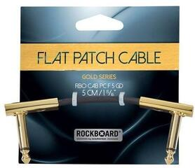 RockBoard Flat Patch Cable Złoty/Kątowy - Kątowy