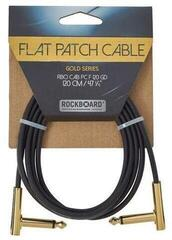 RockBoard Flat Patch Cable Gold Gold 120 cm Angled - Angled