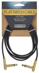 RockBoard Flat Patch Cable Gold Gold 140 cm Angled - Angled