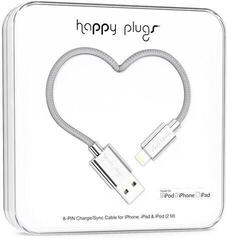 Happy Plugs Lightning Cable 2m Silver