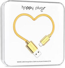Happy Plugs Micro-USB Cable 2m Gold