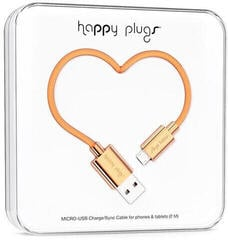 Happy Plugs Micro-USB Cable 2m Rose Gold