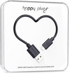 Happy Plugs Micro-USB Cable 2m Black