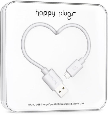 Happy Plugs Micro-USB Cable 2m White