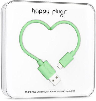 Happy Plugs Micro-USB Cable 2m Mint