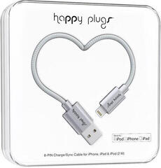 Happy Plugs Lightning Cable 2M, Space Grey