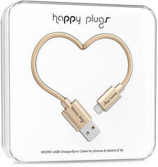 Happy Plugs Micro-USB Cable 2M, Champagne