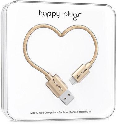 Happy Plugs Micro-USB Cable 2M, Champagne