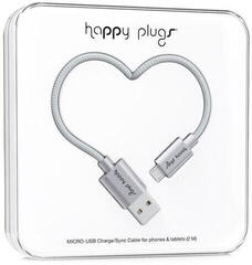 Happy Plugs Micro-USB Cable 2M, Space Grey